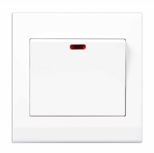 Simplicity White Screwless 20A DP Switch with Neon 07260